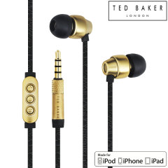 Ecouteurs Intra-auriculaires Ted Baker Dover Haute-Performance Noir/Or