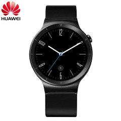 Huawei Active Watch para Smartphones Android/iOS - Correa cuero negra