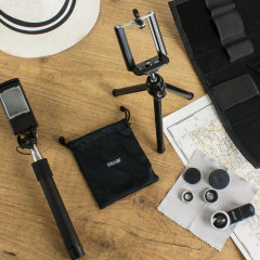 Enhance your smartphone photography with the Universal Smartphone Photography Kit from Olixar. Combining 3-in-1 Lens Kit, Pocket Selfie Stick and Tripod and mount - all in one easy lightweight carry case. it's all you need!