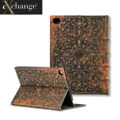 eXchange Black Apple iPad Air 2 Grolier Cover Case - Gold/Brown