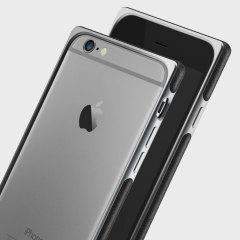 Bumper iPhone 6S / 6 Adopted Frame Aluminium en cuir – Gris