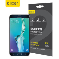 Olixar Samsung Galaxy S6 Edge Plus TPU Screen Protector 2-in-1 Pack