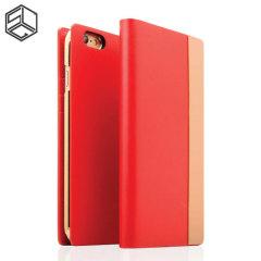 Housse iPhone 6S / 6 SLG Cuir et Métal Edition - Rouge