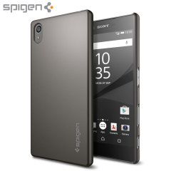 Spigen Thin Fit Sony Xperia Z5 Shell Case - Smooth Zwart