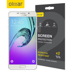 Keep your Samsung Galaxy A7 2016 screen in pristine condition with this Olixar scratch-resistant screen protector 2-in-1 pack.
