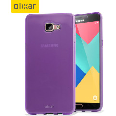 Custom moulded for the Samsung Galaxy A9. This purple Olixar FlexiShield case provides a slim fitting stylish design and durable protection against damage, keeping your device looking great at all times.