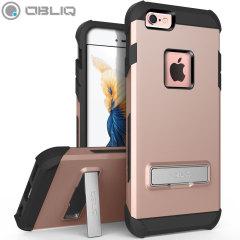 Dekslet Obliq Skyline Pro Stand er en hybrid, ergonomisk og beskyttende deksel til iPhone 6S / 6 som tilbyr et utmerket beskyttelse uten å legge ved ekstra bulk. Dekslet har også et stativ for visning av media.