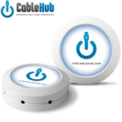 CableHub Personalised Cable Organiser - White