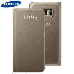 Officiële Samsung Galaxy S7 LED Flip Wallet Cover - Goud