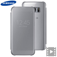 Original Samsung Galaxy S7 Clear View Cover Tasche in Silber