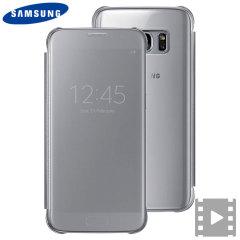 Esta funda oficial Samsung Clear View es la manera perfecta de mantener su Galaxy S7 protegido manteniéndose al día de lo que sucede en su smartphone gracias a su tapa traslúcida que le mostrarás todas las notificaciones de su smartphone.