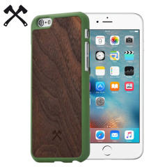 Woodcessories EcoCase Casual iPhone 6/6S Hülle Walnut & Grün