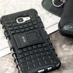 Protect your Samsung Galaxy A7 2016 from bumps and scrapes with this black ArmourDillo case. Comprised of an inner TPU case and an outer impact-resistant exoskeleton, offering sturdy and robust protection, but also a sleek modern styling.