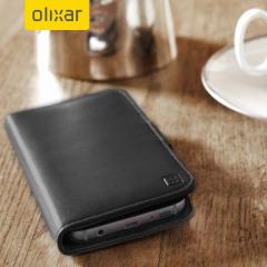 Ett elegant, lätt och svart fodral i äkta läder med ett magnetiskt spänne. Fodralet Genuine Leather erbjuder ett utmärkt skydd till din Samsung Galaxy S7 och har förvaringsfickor för dina kort, pengar och dokument.