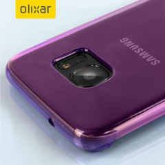 Custom moulded for the Samsung Galaxy S7 Edge, this purple FlexiShield case by Olixar provides slim fitting and durable protection against damage.