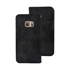 Olixar Kunstledertasche für das Samsung Galaxy S7 in Schwarz