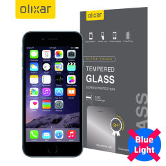This ultra-thin tempered glass screen protector for the iPhone 6S / 6 from Olixar offers toughness, high visibility and sensitivity all in one package with with added bonus of limiting potentially harmful blue light rays!
