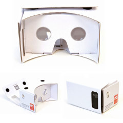 VR Google Compatible Cardboard 3D Glasses with NFC Tag - White