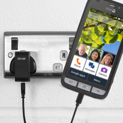 Charge your Doro Liberto 820 / 820 Mini quickly and conveniently with this 2.5A high power charging kit. Featuring mains adapter and USB cable.