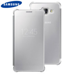 Original Samsung Galaxy A5 2016 Clear View Cover Case in Silber