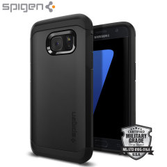 Custodia Tough Armor Spigen per Samsung Galaxy S7 - Nero