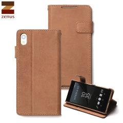 Zenus Vintage Diary Sony Xperia Z5 Tasche in Vintage Braun