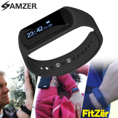 Amzer FitZer Ka Fitness Monitor Sleep Tracker with OLED Display