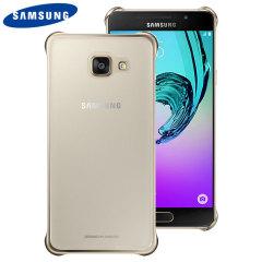 Original Samsung Galaxy A3 2016 Clear Cover Case in Gold