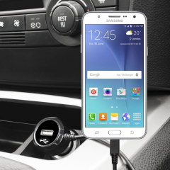 Keep your Samsung Galaxy J5 2015 fully charged on the road with this high power 2.4A Car Charger, featuring extendable spiral cord design. As an added bonus, you can charge an additional USB device from the built-in USB port!