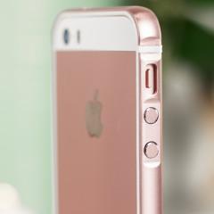 X-Doria Bump Gear Plus iPhone SE Aluminium Bumper Case Hülle Rosa Gold
