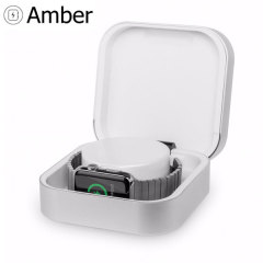 This Amber portable power bank and case is suitable for charging your Apple Watch Series 3 / 2 / 1 when you're on the move. Not only will this charge your Apple Watch eight times over, it is also a protective case to keep your watch in when travelling!