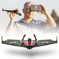 Control the movements of this paper plane with the movements of a VR headset - you're basically flying! With a built in camera and VR headset you can control and view the plane through your own eyes. Aerobatic greatness and unlimited fun awaits.