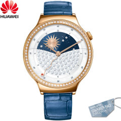 Huawei Jewel Watch für Android und iOS -Blau Leder Armband