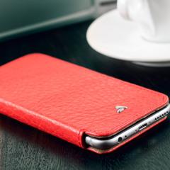 Vaja Slim Pelle iPhone 6S / 6 Premium Leather Book Flip Case - Red