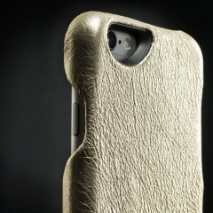 Vaja Metallic Grip iPhone 6S / 6 Premium Leather Case - Vintage Gold