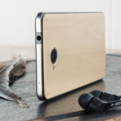 Mozo Microsoft Lumia 650 PU Batterieabdeckung in Hell Holz