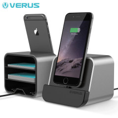 Verus i-Depot Universal Smartphone & Tablet Charging Stand - Titanium