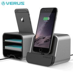 Verus i-Depot Universal Smartphone & Tablet Tischladestation Titanium