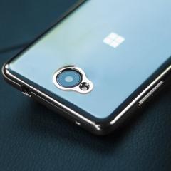 Mozo Microsoft Lumia 650 Glam Case Hülle in Silber