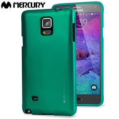 Mercury iJelly Samsung Galaxy Note 4 Gel Case Hülle Metallic Grün