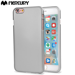 Mercury Metallic Silicone Finish Hard Case iPhone 6S / 6 Plus Silver