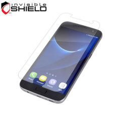 The precision pre-cut case friendly InvisibleShield original screen protector applies directly to the front of your Samsung Galaxy S7 for advanced clarity and a glass-like surface.