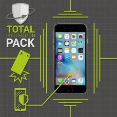 Protégez votre iPhone 6S / 6 des dommages avec cette ensemble de protection Olixar. Dotée d'une coque en polycarbonate mince et d'une protection en verre trempé, ce pack offre le summum en matière de protection légère.