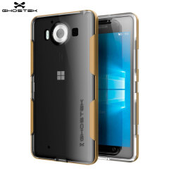 Ghostek Cloak Microsoft Lumia 950 Tough Case Hülle in Klar/ Gold
