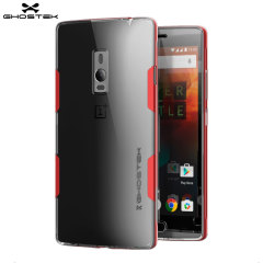 The Cloak Protective case in red and clear from Ghostek comes complete with a tough tempered glass screen protector to provide your OnePlus 2 with fantastic all round protection.