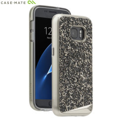 Case-Mate Metallic Samsung Galaxy S7 Case Hülle in Champagne / Schwarz