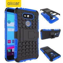 Bescherm je LG G5 met deze blauwe ArmourDillo Case, die bestaat uit een binnenste TPU case en een impact resistent exoskelet aan de buitenkant.