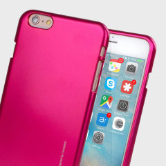 Mercury Goospery iJelly iPhone 6S / 6 Gel Hülle Metallic Hot Pink