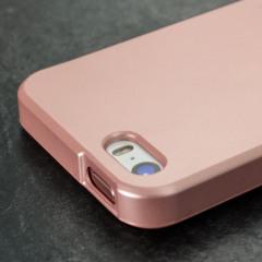 Mercury Goospery Jelly iPhone SE Gel Case Hülle Metallic Rosa Gold