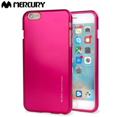 Mercury Goospery iJelly iPhone 6S / 6 Gelskal - Metallisk Rosa